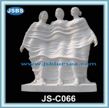 Large Garden Decoration Carved White Marble Statuary