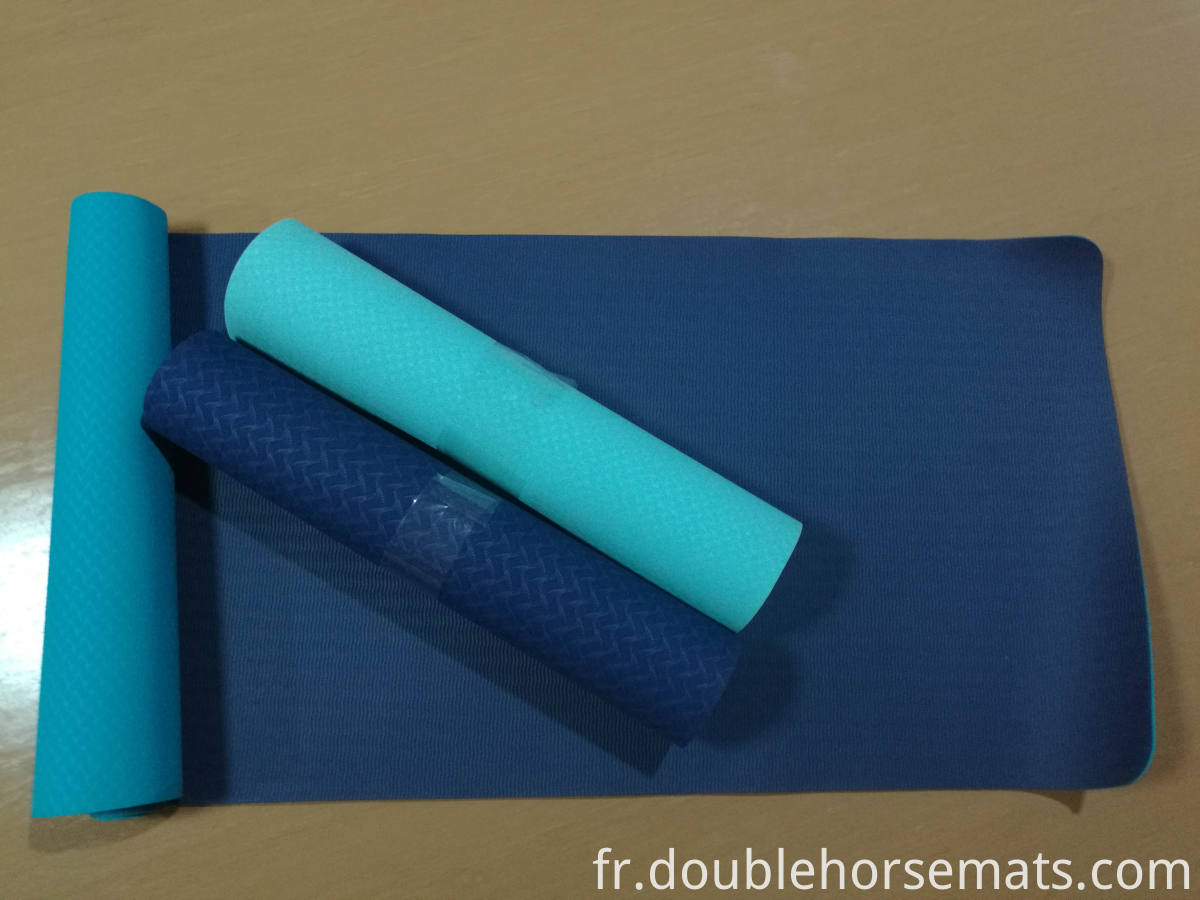 TPE double color yoga mat