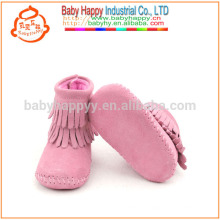 Cute baby real leather moccasins shoes toddler infant ankle boots