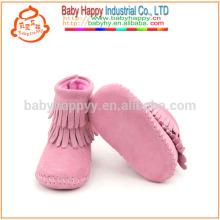 Cute baby настоящие кожаные мокасины ботинки toddler детские ботинки лодыжки