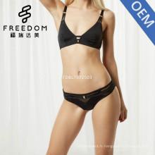 Chine usine élégant pop up sexy xxx filles triangle plongée soutien-gorge et culotte ensemble sous-vêtements en images