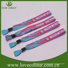 Custom Armbänder zum Verkauf / Polyester Wrstband / Woven Armbänder