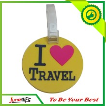 Custom Fashion Colorful PVC Luggage Tag, Rubber Luggage Tag