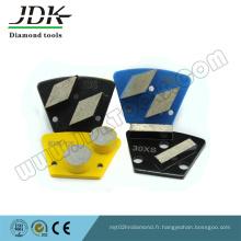 Plaques de meulage au diamant trapézoïdal pour le rectification de la couche de béton