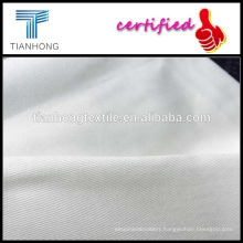 White woven twill spandex fabric/white african woven fabric/spandex cotton twill fabrics