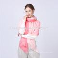 lady lastest design custom printed pink multifunctional wool scarf