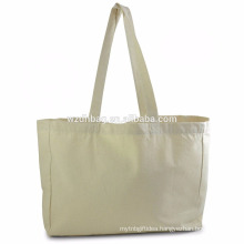 Custom Eco-friendly Natural Cotton Canvas Bag Cotton Canvas Shopping Grocey Tote Bag