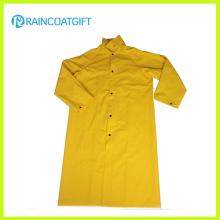 Veste de pluie longue de PVC de polyester de PVC Rpp-040