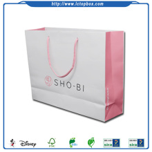 Colored paper printed bags with handles