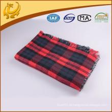 China-Fabrik-preiswerter Preis-Großverkauf gesponnener 100% Acryl-Plaid-Wurf