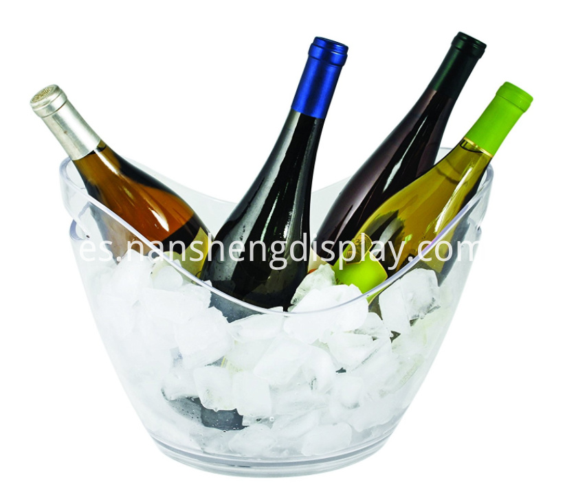 Modern Acrylic Transparent Ice Bucket with Handles