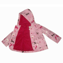 Cartoon design pu raincoat