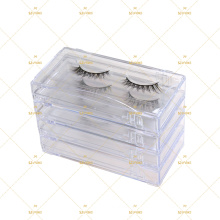 Acyclic Lash Display Storage Case For Strip Lashes Eyelash Extensions Clear Vegan Reusable 5D Faux Mink Box Packaging Case 5DS