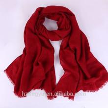 Moda llana venta superior mujeres hijab musulmán viscose bufanda rayón chal