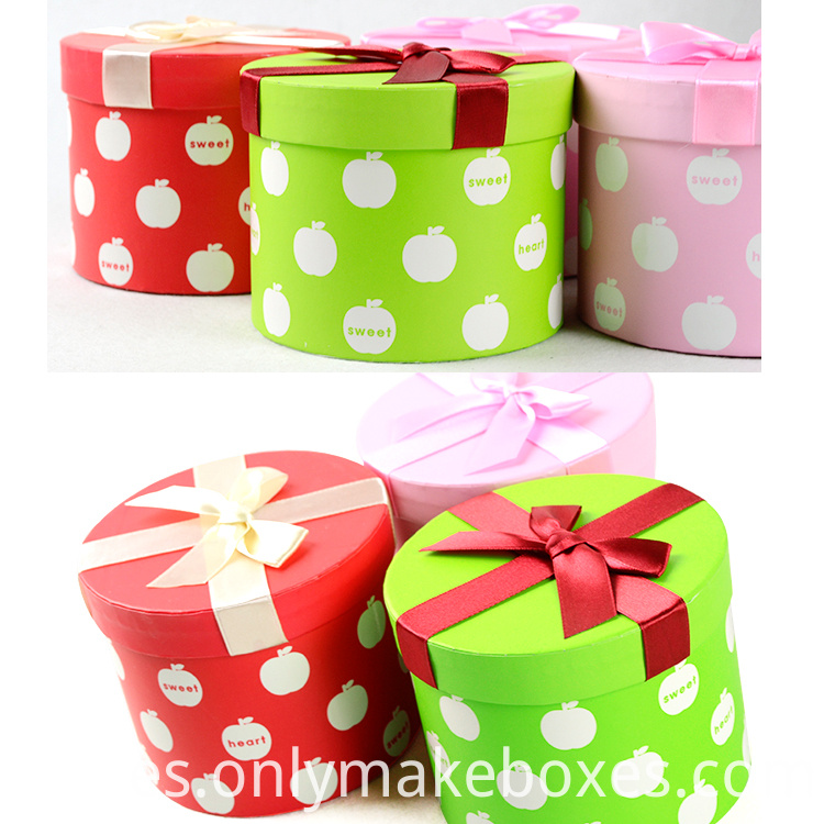 Full Color Printing Round Paper Box