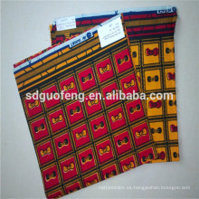la última tela de cera cera africana imprime la tela al por mayor de la impresión africana