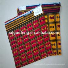Dernières cire tissu africain wax wax tissu en gros africain cire impression tissu