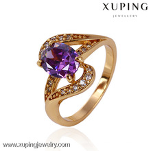 10983-Xuping Elegant Clear Oval Stone Jewelry Shining Ring