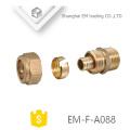 EM-F-A088 Messingkartenhülsenkompressionsrohrfitting