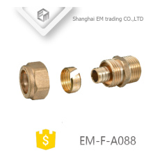 EM-F-A088 brass card sleeve type compression pipe fitting