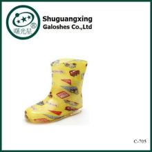 Gelée Chilren pluie bottes Crystal mignon bottes imperméables étudiant chaussures de pluie pour vente C-705