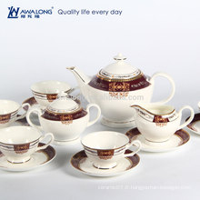 Ensemble de café en porcelaine japonais de style occidental de style 15pcs, ensemble de café en céramique fine