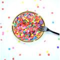 6 piezas Magdalena plástica apta para niños Push Up Pop Confetti