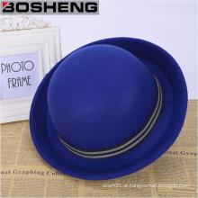 Chapéu do jogador do tampão de Fedora das lãs das mulheres na moda do vintage da forma