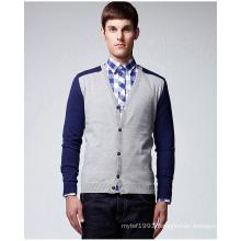 Fashion Design V Neck Pure Colour Sweater Cardigan