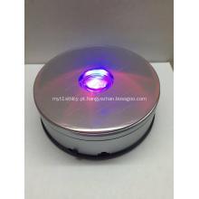 Carrinho de exposição de giro da plataforma giratória de 360 graus com diodo emissor de luz