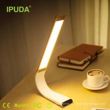 lâmpada de leitura a pilhas recarregável da lâmpada do toque da casa de USB da fábrica