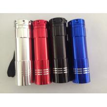 9LED Mini-Taschenlampe Werbeartikel 9LED Taschenlampe