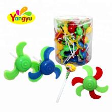 Funny Spinner Fan Toy With Fruity Flavor Sweet Lollipop