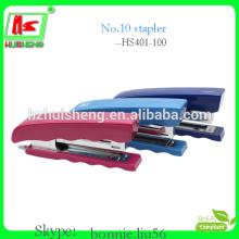 Fábrica de pequenas agrafeiras de plástico, grampeador de luxo (HS403-100)