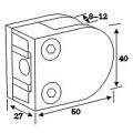 Stainless Steel Die Casting Glass Clamp Spigot for Handrail Tube (CR-053)