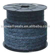 Carbon fiber packing with PTFE
