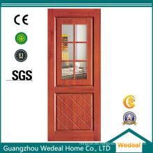 Puerta de madera del dormitorio para el interior con nuevo diseño (WDM-073)
