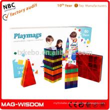 Playmags Nuevo azulejo magnético del edificio 3D juega 60pcs fija
