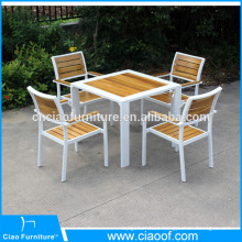 New Design Teak Wood Outdoor Furniture Dining Table Set