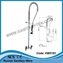 Wall Mounted Pre-Rinse Kitchen Sink Faucet (KM2103)