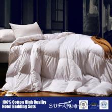 Couette moelleuse haut de gamme de duvet de canard de luxe haut de gamme pour l'usage d'hôtel / à la maison duvet de duvet d'oie duvet de duvet d'oie