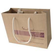 Brown Kraft Paper Shopping Bag with Cotton Handle