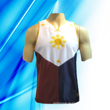 100% Polyester Man's Sleeveless Basketball Jersey