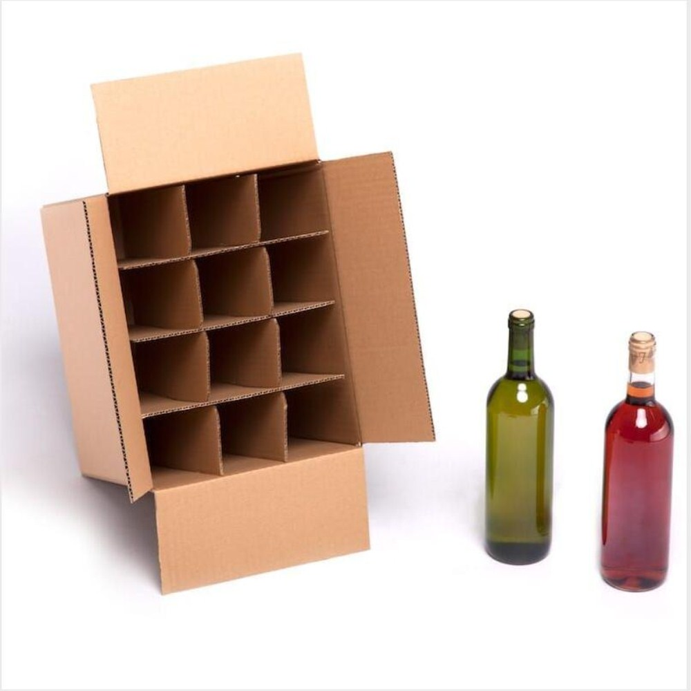 3 Bottle boxes with dividers