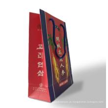 Saco personalizado de papel de arte de alta qualidade para presente