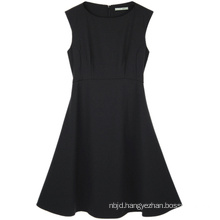 Wear Knee Length Black Office Lady Dress