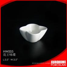conception de fleur du restaurant de 3,5 pouces de Chine utiliser samll sauce plaque