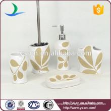 Fantástico hecho a mano accesorios de baño de lujo de cerámica