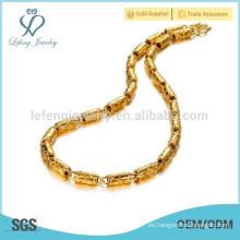 Collar de cadena gruesa del oro, collar indio joya del oro 18k