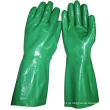NMSAFETY óleo industrial anti luvas de nitrilo pesados luvas longas de punho de segurança
